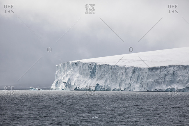 Glacial cliff on the coast of Franz Josef Land