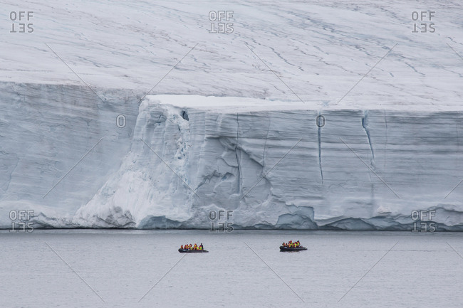 Tour boats off the coast of Franz Josef Land