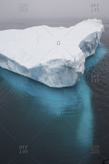 Elevated view of a glacier in the Arctic Ocean