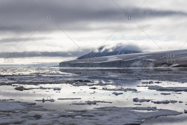 Arctic landscape of Franz Josef Land, Russia