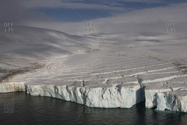 Frozen landscape of Franz Josef Land, Russia