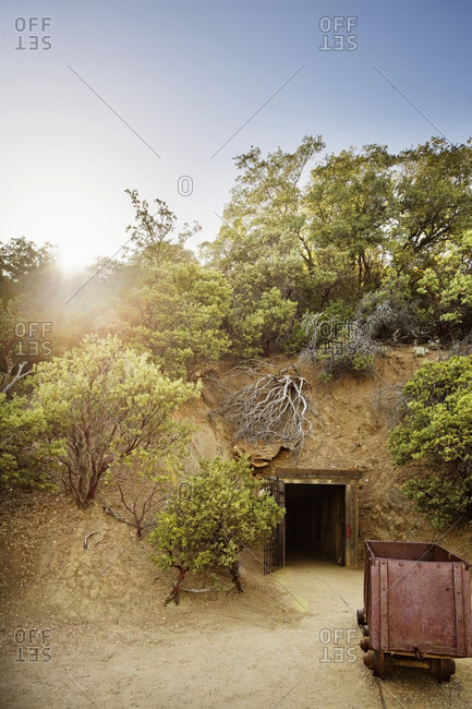 An Abandoned Mine Under A Hill