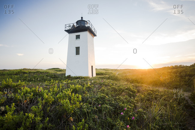 Wood End Light On Race Point In Provincetown, Massachusetts, Usa