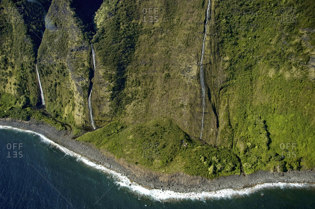The Northern Hamakua Coastline Of The Big Island Of Hawaii Offers Dramatic Views Of High Cliffs And Waterfalls