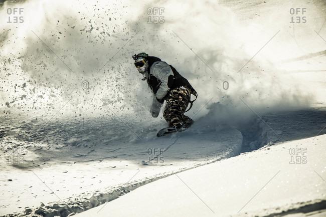 Mark Hoyt Riding Through A Fresh Powder In The Colorado Backcountry