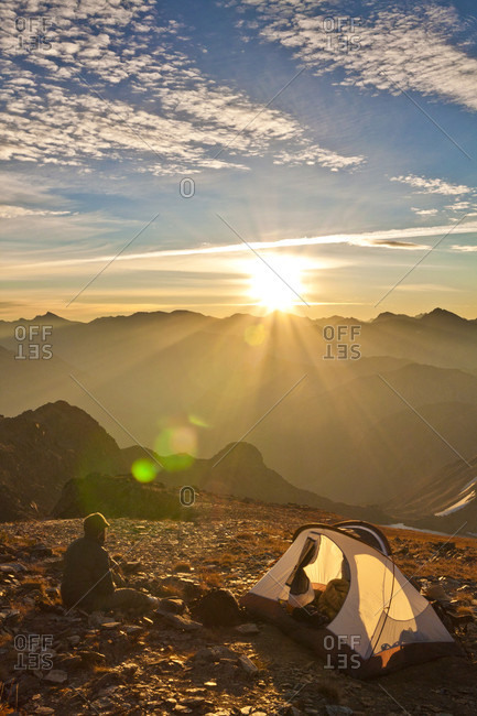 Camping On The Summit Of Crystal Peak, British Columbia, Canada