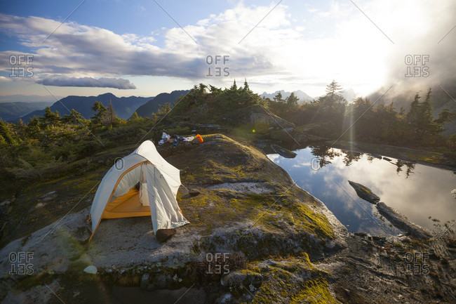 Camping Below Mount Robie Reid In British Columbia, Canada