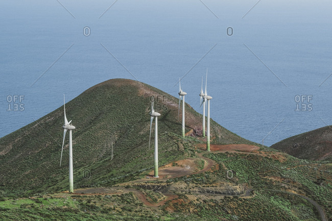 Wind Mills In The Island Of El Hierro