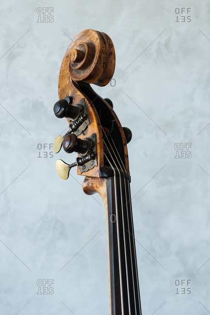 Top of a wood stringed instrument