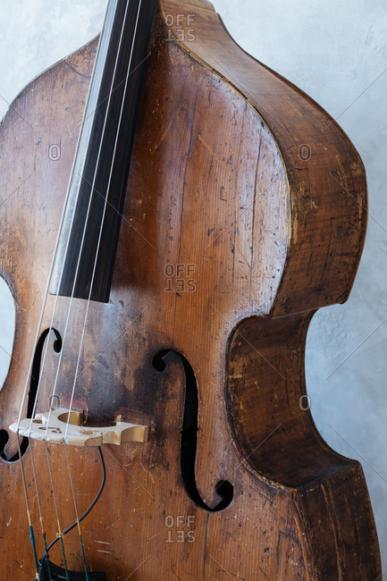 Front of a wood stringed instrument