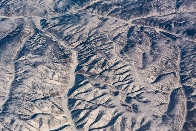 Aerial view of Rocky Mountain peaks