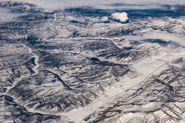 Aerial view of Rocky Mountain landscape