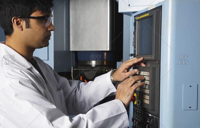 Automotive Engineer Using Computer - Offset