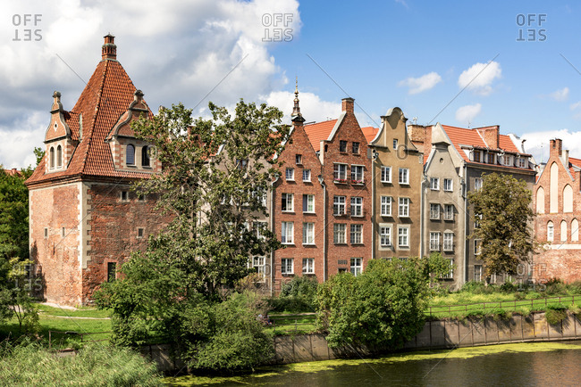 Poland- Gdansk- town houses at Motlawa river