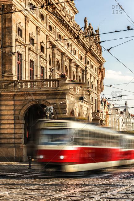 Czech Republic- Prague- driving tramway