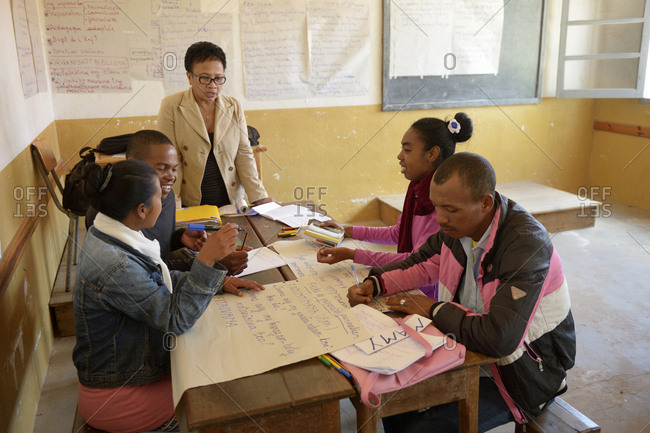 Madagascar- Fianarantsoa- Young people attending a teacher training