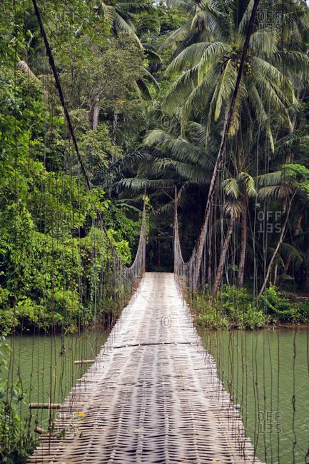 Indonesia- Java- suspension bridge