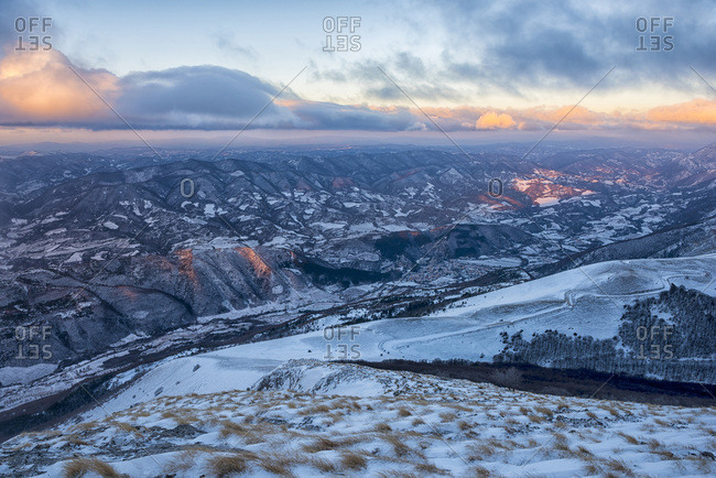 Italy- Marche- Apennines- Winter sunrise