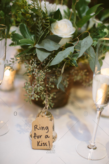 Bell on a wedding reception table