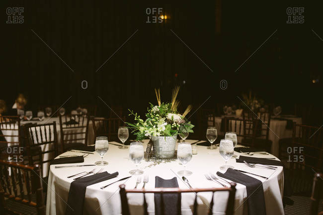 A table for wedding reception