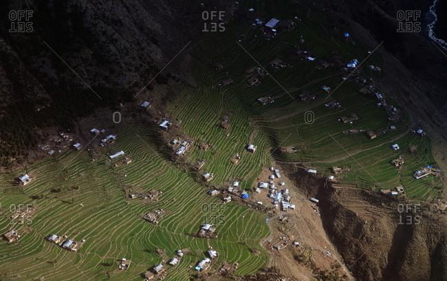 Community on mountain plateau