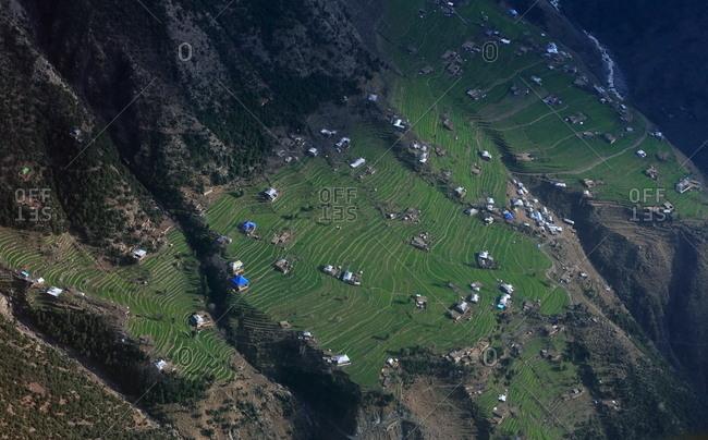 Community on a mountain plateau