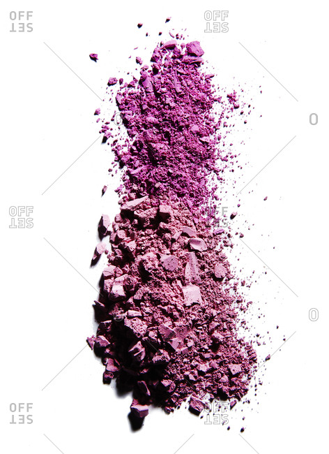 A pile of pink eye shadow