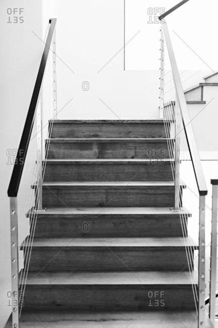 Naturally lit modern stairway