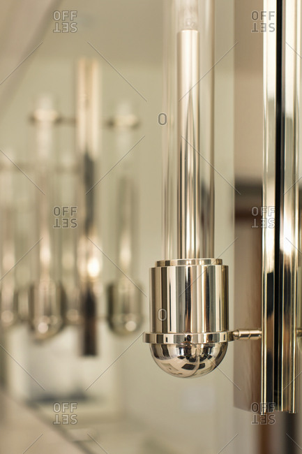 Modern chrome candle light fixture