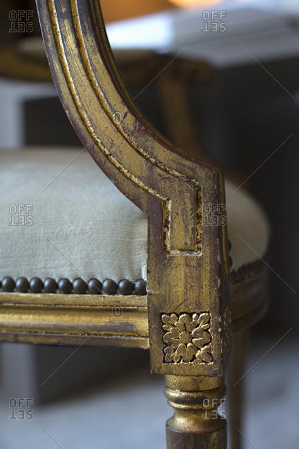 Detail of an antique chair