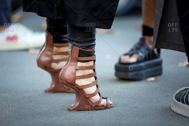 17062eabc277 ... 2017  Woman wearing strappy couture high heeled sandals