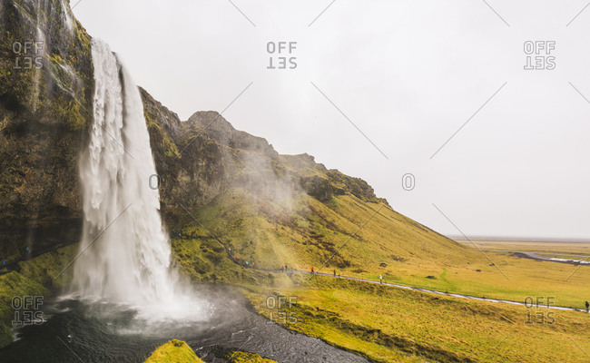 Seljalandsfoss waterfall in the south region, Iceland