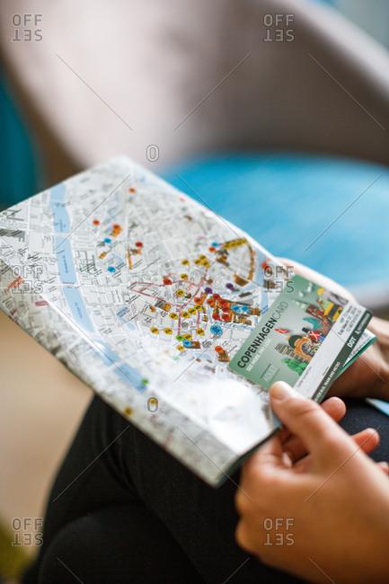 1/4/12: Traveler with map of Copenhagen in hands