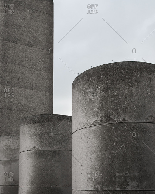 Architectural concrete cylindrical columns