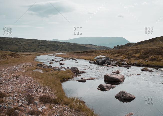 Stream through a remote rural setting