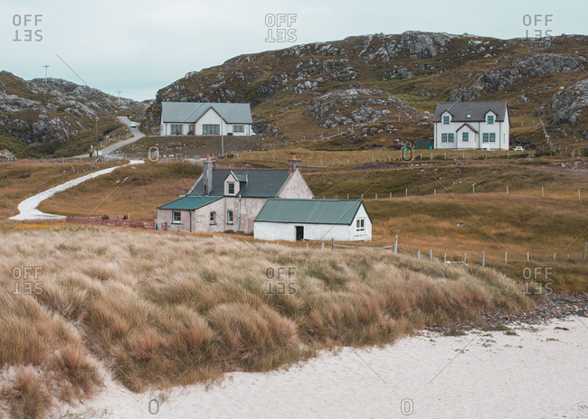 Homes in rugged coastal hills