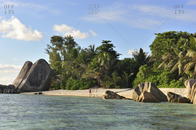 Seychelles, La Digue . Source d'Argent beach
