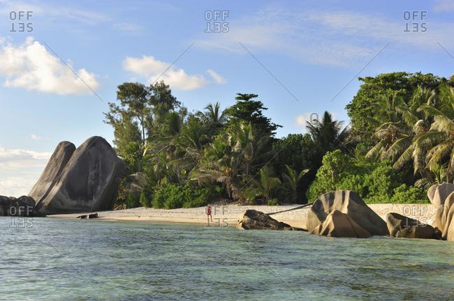 Seychelles, La Digue . Source d'Argent beach