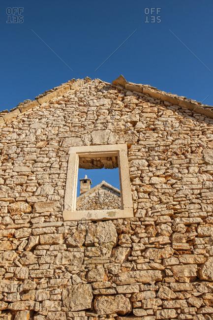 Croatia, Hvar Island . ghost village of Humac