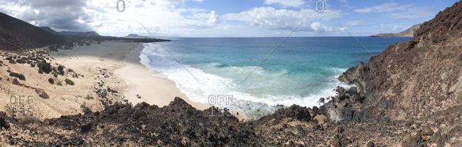 Canary Islands (Spain), La Graciosa . Playa de las Conchas and Montana Clara