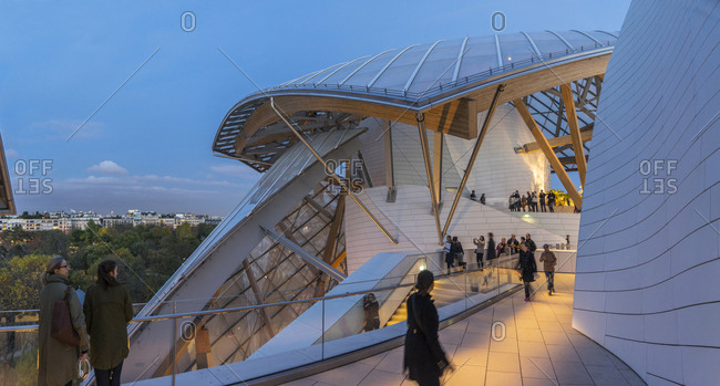 Paris, France - November 10, 2014: Louis Vuitton Foundation at Bois de Boulogne