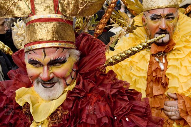 Italy, Veneto, Venice   - February 28, 2006: Carnival at San Marco square