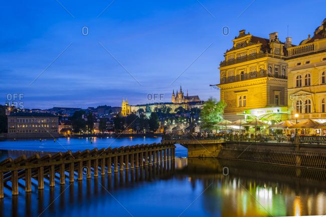 Czech Republic, Prague - March 4, 2017: Charles Bridge and the Castle