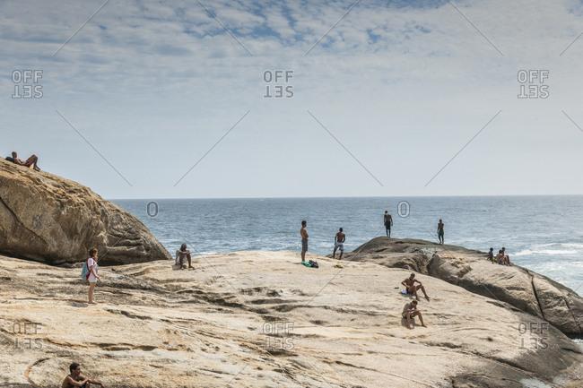Brazil, Rio de Janeiro - December 1, 2012: Ipanema beach