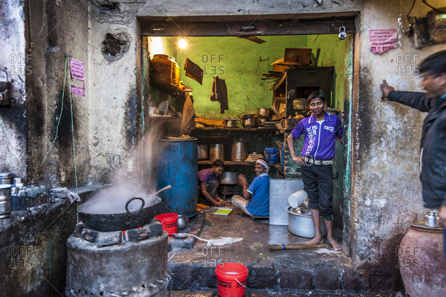 India, Madhya Pradesh - January 31, 2013: Daily life in the old city