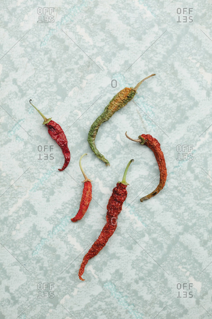 Assorted dried peppers