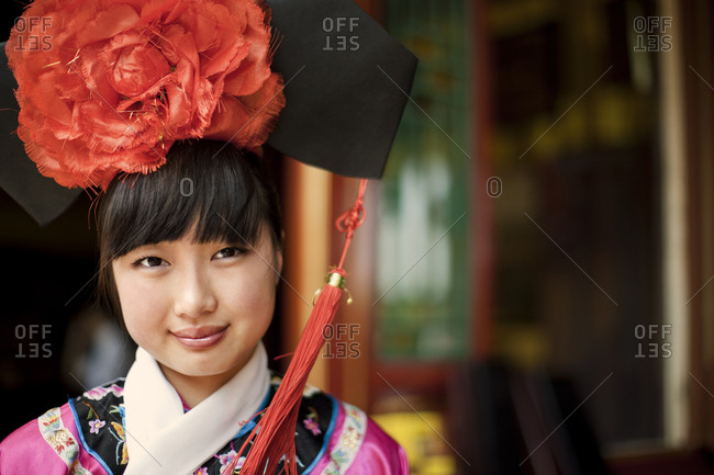Young woman in traditional Japanese clothing