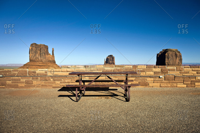 The Mittens rock formations in Monument Valley Tribal Park, Utah, USA