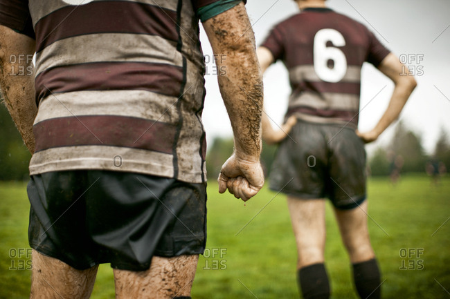 Rugby players on the field