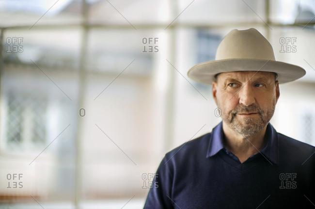 Man wearing a Stetson hat
